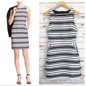 BANANA REPUBLIC Cut Out Back Striped Sheath Dress